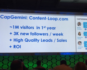 BMA's Masters of B2B Marketing Conference - CapGemini sees great returns from its content platform
