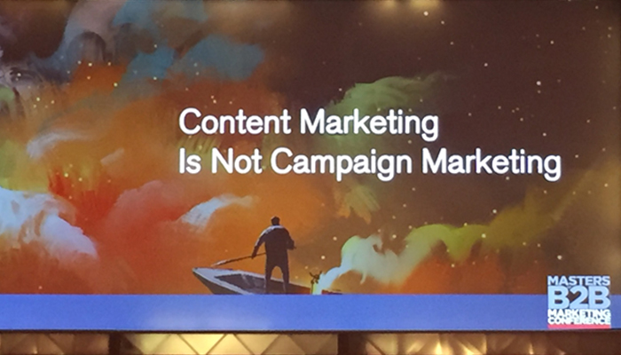 BMA's Masters of B2B Marketing Conference - Content platforms not one-offs
